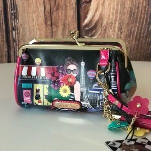 SOLD********Nicole Lee Wristlet-A Day in Paris-NWT
